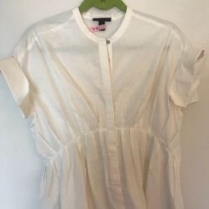 Victoria Beckham for Target white pleated blouse
